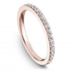Noam Carver Rose Gold Matching Band With 24 Diamonds