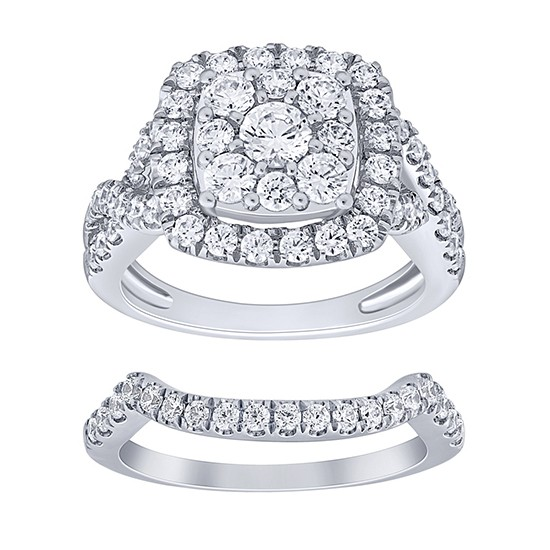 Complete Diamond Wedding Set