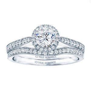 Rm1286rtt-14k White Gold Round Cut Halo Diamond Semi Mount Engagement Ring