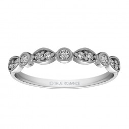 Rm1292 -14k White Gold Round Cut Diamond Infinity Semi Mount Engagement Ring