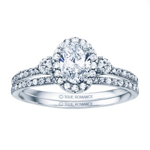 Rm1345v-14k White Gold Oval Cut Halo Diamond Semi Mount Engagement Ring