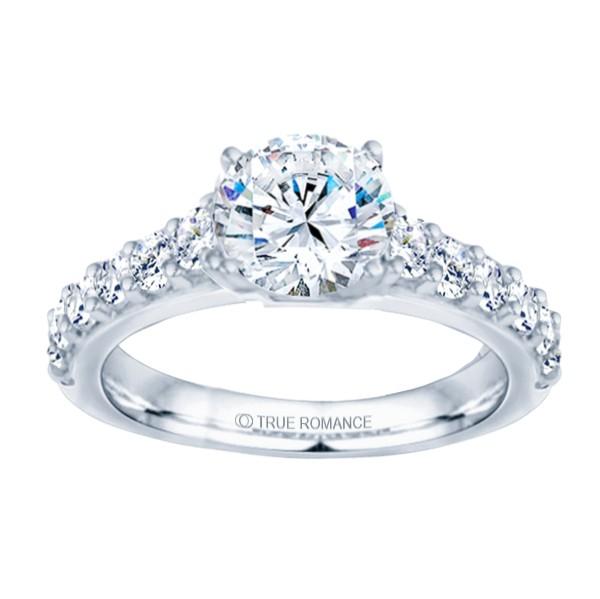 14k White Gold Classic Semi Mount Engagement Ring