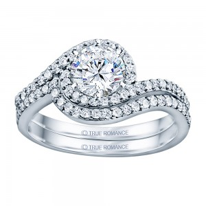 Rm1427-14k White Gold Infinity Engagement Ring