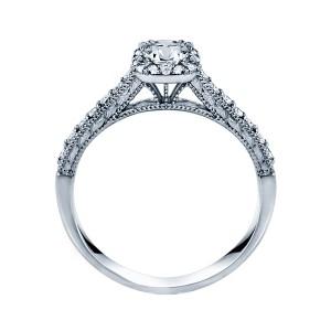 Rm1457 -14k White Round Cut Cushion Halo Diamond Vintage Semi Mount Engagement Ring