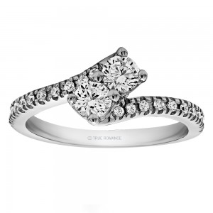 RM1551 - Diamond Two Stone Ring