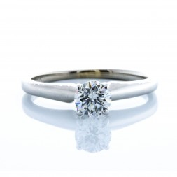 Classic Estate Round Diamond Solitaire (.46ct)