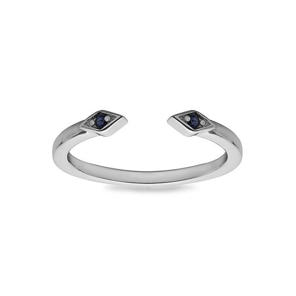 Aztec Sapphire Open Ring
