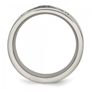 Stainless Steel Brushed w/Grey Cable Inlay 10mm Band