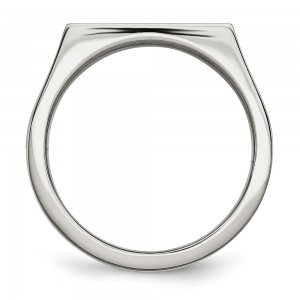 Stainless Steel Polished 1/4ct Black & White Diamond Ring
