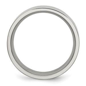 Stainless Steel Brushed 8mm Flat Band