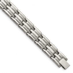 Stainless Steel Brushed and Polished 8.5in Bracelet