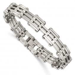 Stainless Steel Polished 7.75in Bracelet