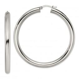 Stainless Steel Polished Hoop Earrings