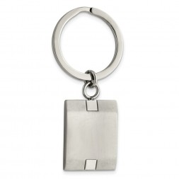 Stainless Steel Brushed and Polished Key Ring