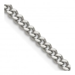 Stainless Steel Polished 4mm 18in Curb Chain