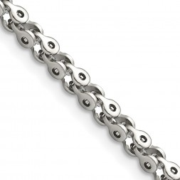 Stainless Steel Polished Fancy Link 18in Chain