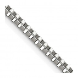 Stainless Steel Polished 2.4mm 20in Box Chain