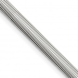 Stainless Steel Polished 6.2mm 20in Flat Snake Chain
