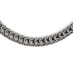 Stainless Steel Polished Fancy Link 22in Necklace