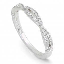 Noam Carver White Gold Stackable Ring With 68 Round Diamonds