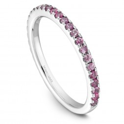 Noam Carver White Gold Stackable Ring With 29 Round Pink Sapphires