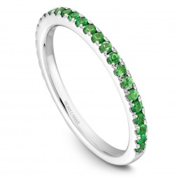 Noam Carver White Gold Stackable Ring With 29 Round Tsavorites