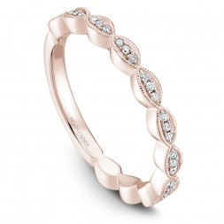Noam Carver Rose Gold Stackable Ring With 33 Round Diamonds