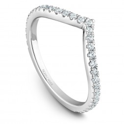 Noam Carver White Gold Stackable Ring With 33 Round Diamonds