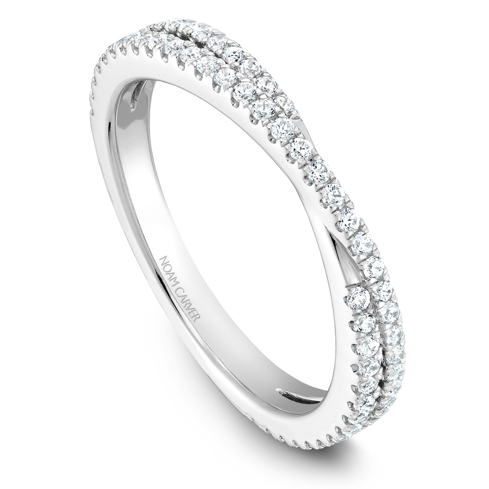Noam Carver White Gold Stackable Ring With 67 Round Diamonds