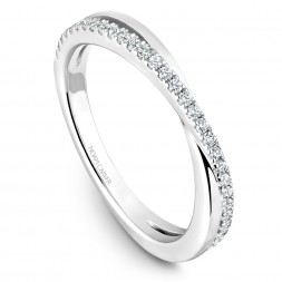 Noam Carver White Gold Stackable Ring With 37 Round Diamonds