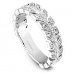 Noam Carver White Gold Stackable Ring With 28 Round Diamonds