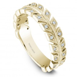 Noam Carver Yellow Gold Stackable Ring With 28 Round Diamonds