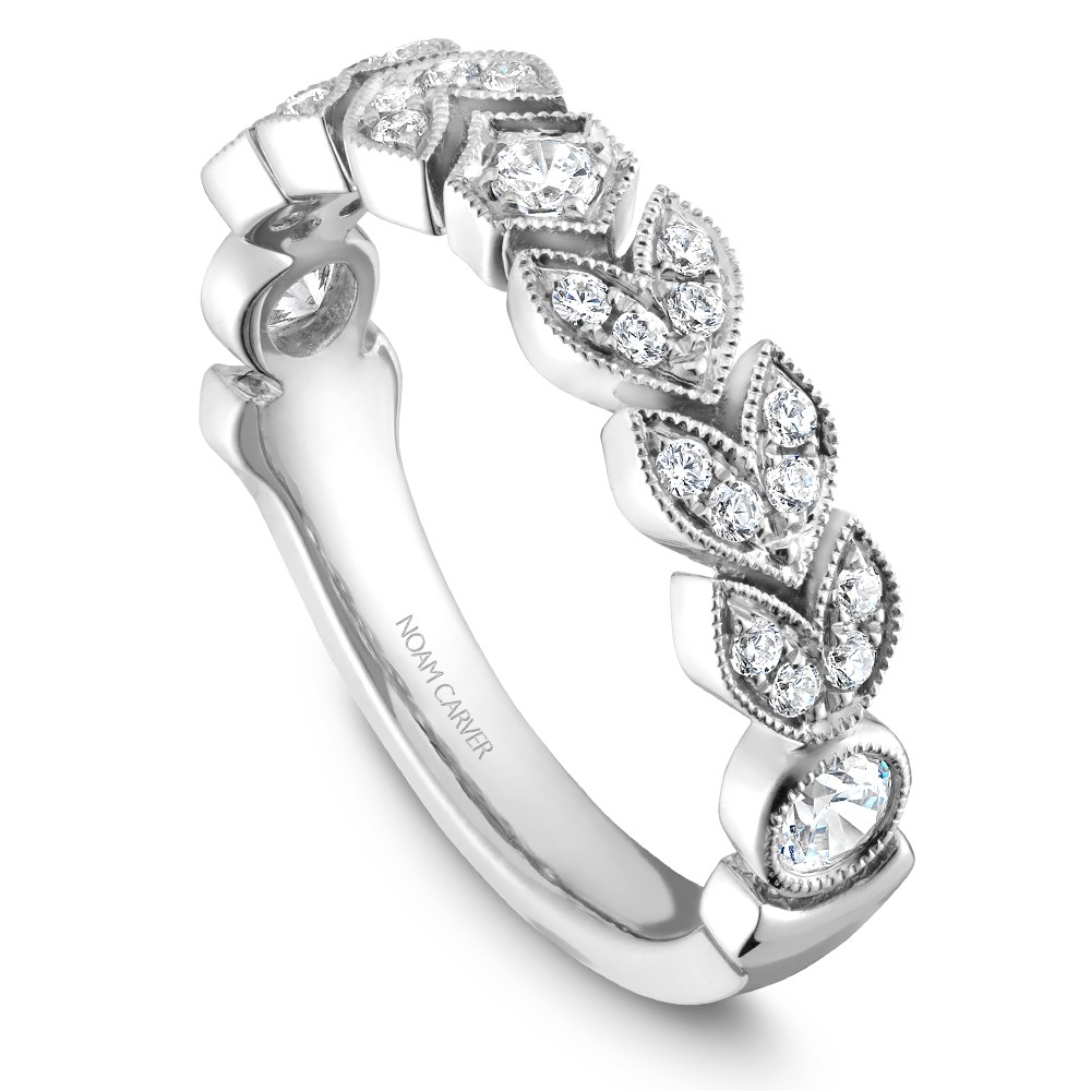 Noam Carver White Gold Stackable Ring With 27 Round Diamonds