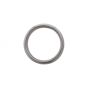 Tungsten 8 mm Satin Finished Band with Ridged Edges