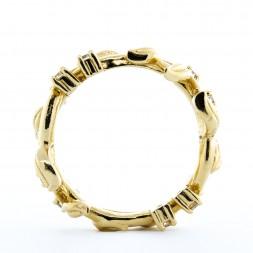14K Yellow Gold Diamond Vine Ring (.16ctw)