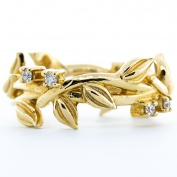 14K Yellow Gold Diamond Vine Ring (.16ctw)