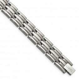 Titanium Brushed and Polished 8.5in Bracelet