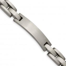 Titanium Brushed 8.75in ID Bracelet