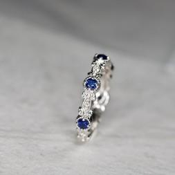 Diamond and Iolite Ring