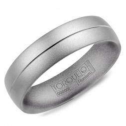 A Titanium Torque Band With A Sandblast Finish And A Line Detail.