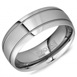 A Tungsten Torque Band With Line Detailing.
