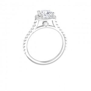 Cushion Halo Diamond Engagement Ring (1.53ctw.)