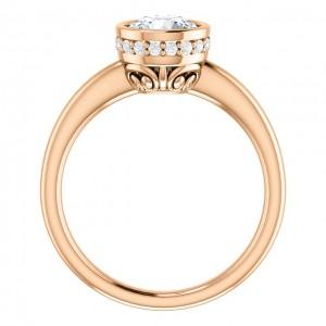 14 Kt Rose Gold 1 Ct Moissanite Ring