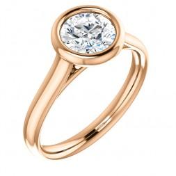 14 kt Rose Gold 1CT Moissanite Ring