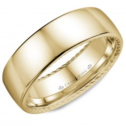 Yellow Gold With Hidden Rope Detailing Wedding Band