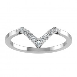 V Shaped Prong Set Tiara Band