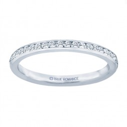 White Gold Straight Band