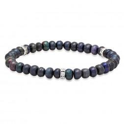 Freshwater Black Pearl Stretch Bracelet