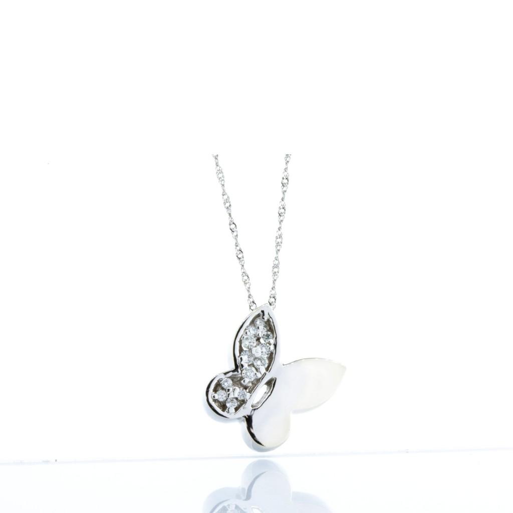 14kt White Gold Diamond Butterfly (.18ctw)