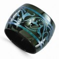 Blk Titan 16Mm Blue Anodized Bd Sz 7